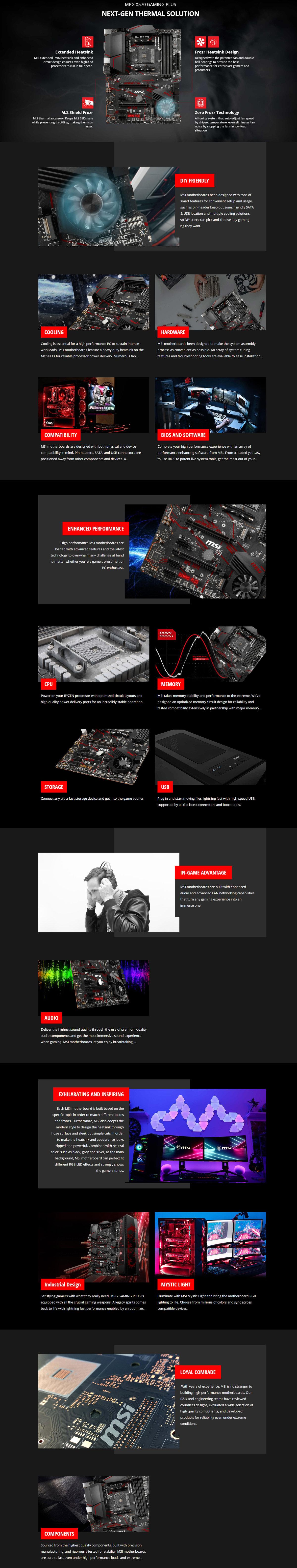 Details about MSI MPG X570 GAMING PLUS AMD Socket AM4 ATX Motherboard DDR4  HDMI M 2 USB3 2 RGB