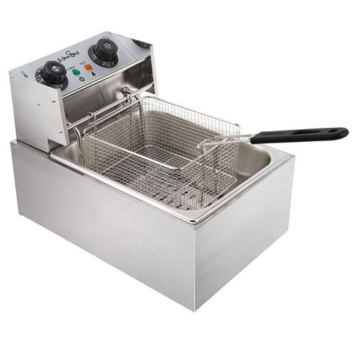 Commercial Deep Fryer 10L Single Basket Electric Fryer Chip Cooker ...