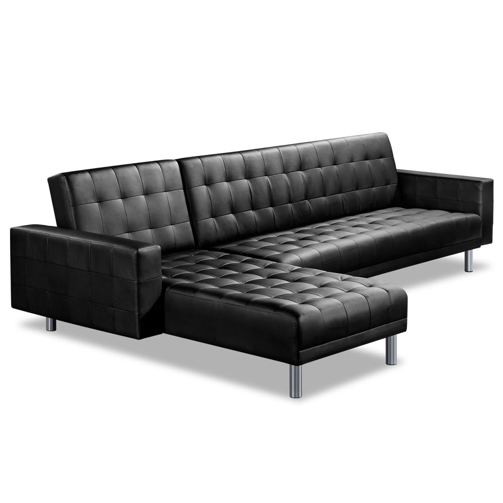 Premium PU Leather Modular Sofa Bed Couch Futon Suite 5