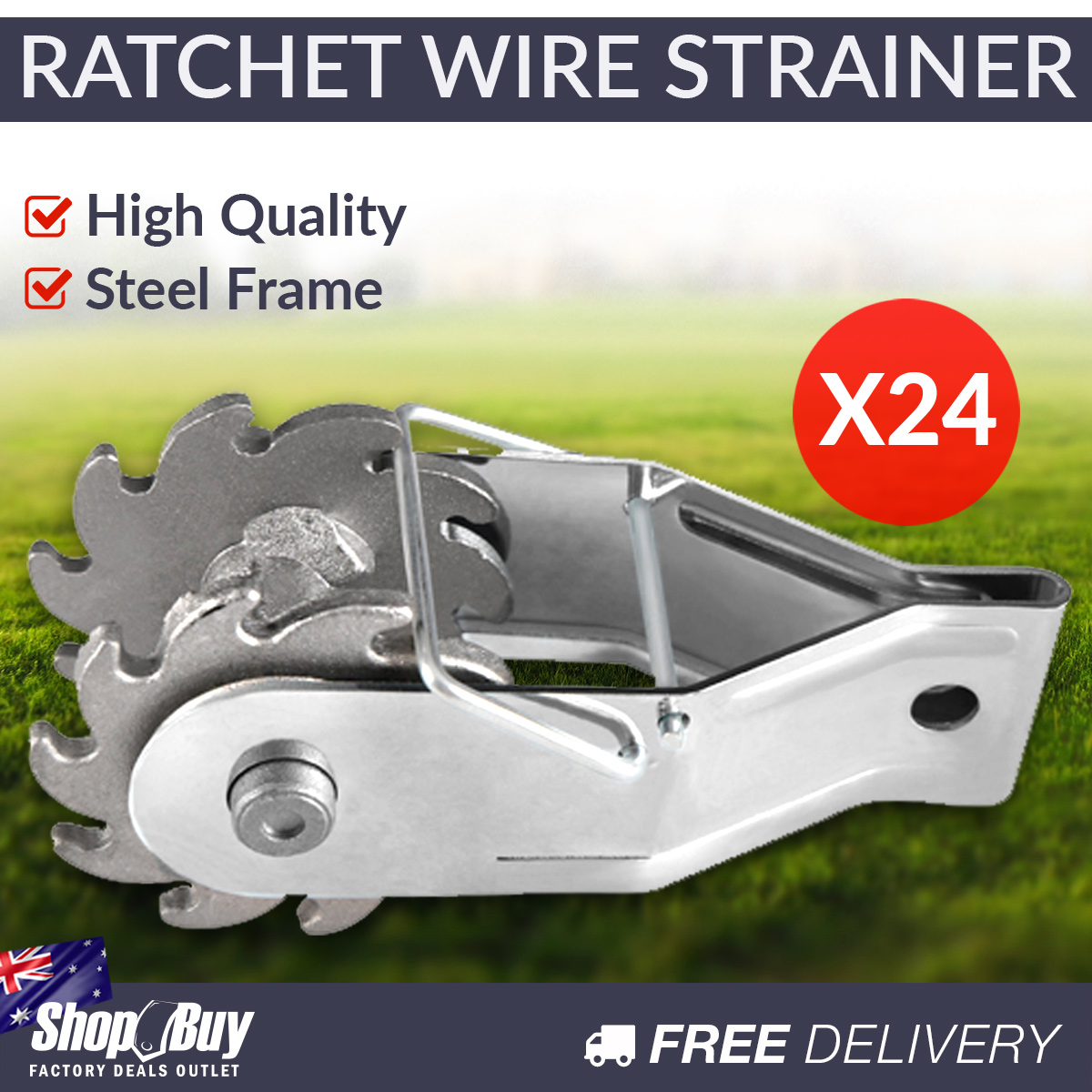 24 x Ratchet Wire Inline Strainer Fencing Tensioner Electric Fence ...