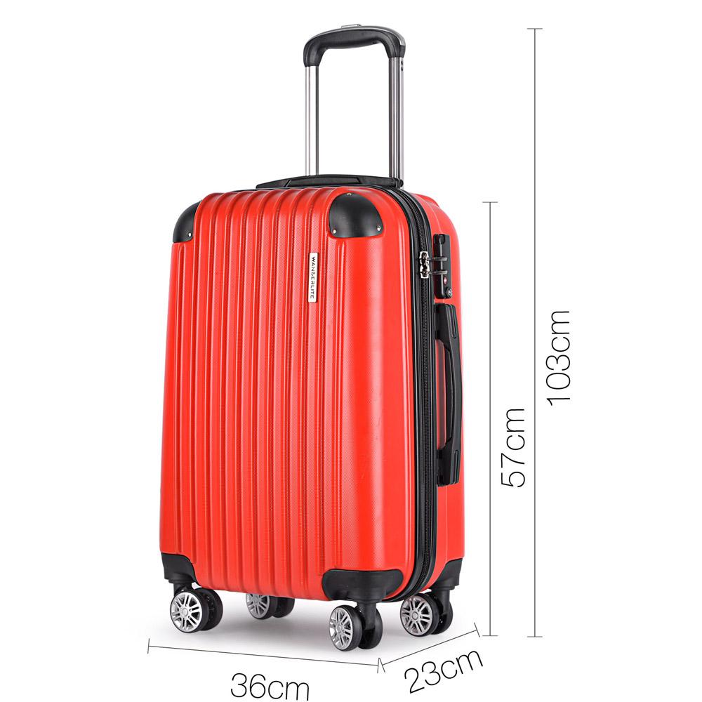 2pcs Luggage Set Hard Shell 4 Wheels Suitcase Tsa Lock Travel Carry On Bag Red Ebay