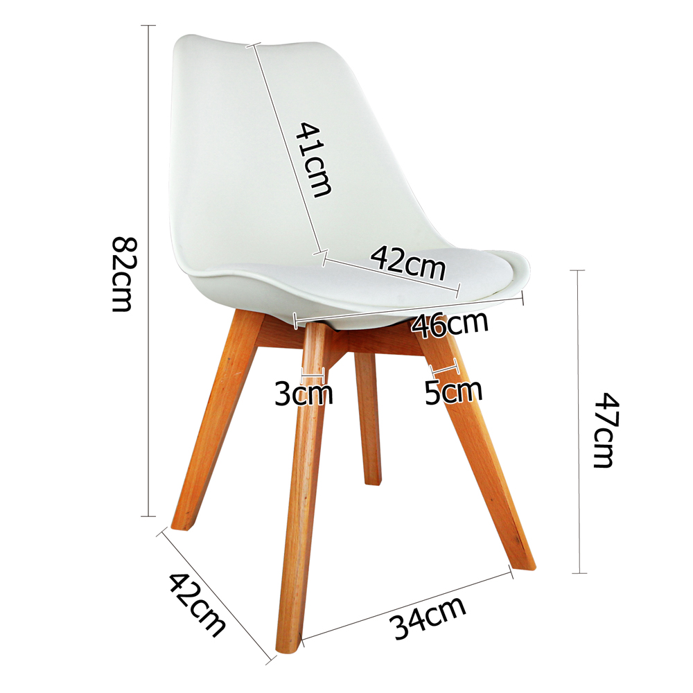 4 x White PU Leather Replica Eames Eiffel DSW Dining Chairs Beech Wood Leg4 x White PU Leather Replica Eames Eiffel DSW Dining Chairs Beech  . Set Of 4 Replica Eames Eiffel Dsw Dining Chair White. Home Design Ideas