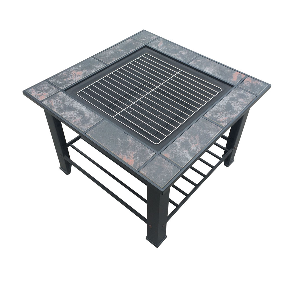 3in1 Outdoor Garden Camping Patio Fire Pit Bbq Table Grill