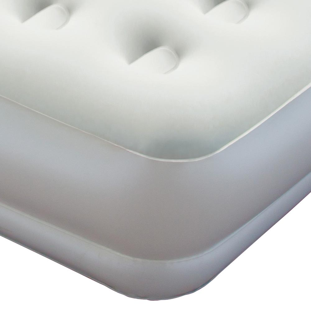 Single Inflatable Air Bed Built In Pump Blow Up Mattress Camping Sleeping  Mat