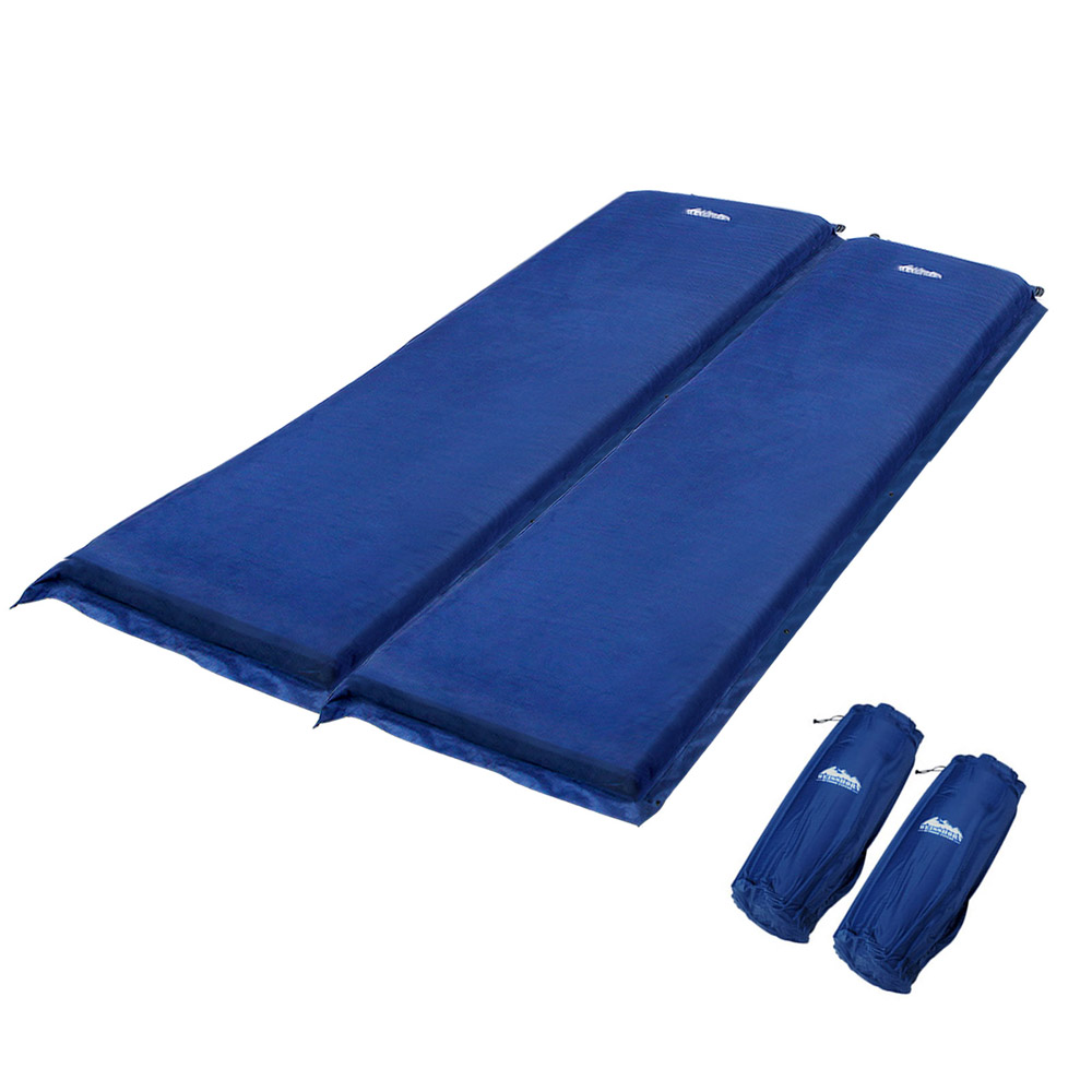 Double Self Inflating Sleeping Mats 10cm Blow Up Mattress