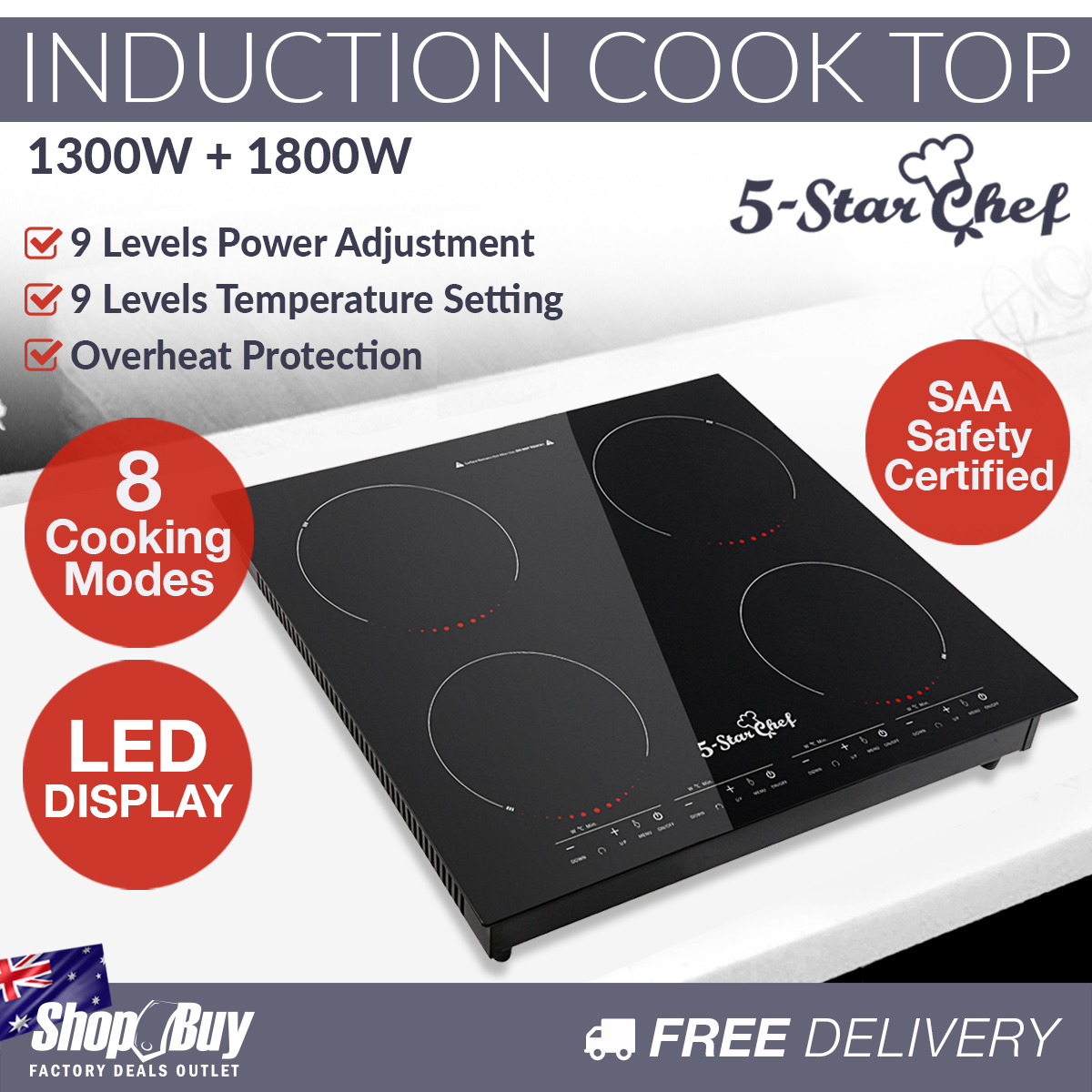 induction cooktop electric stove 4 burner ceramic hotplate cook top cooker ebay. Black Bedroom Furniture Sets. Home Design Ideas