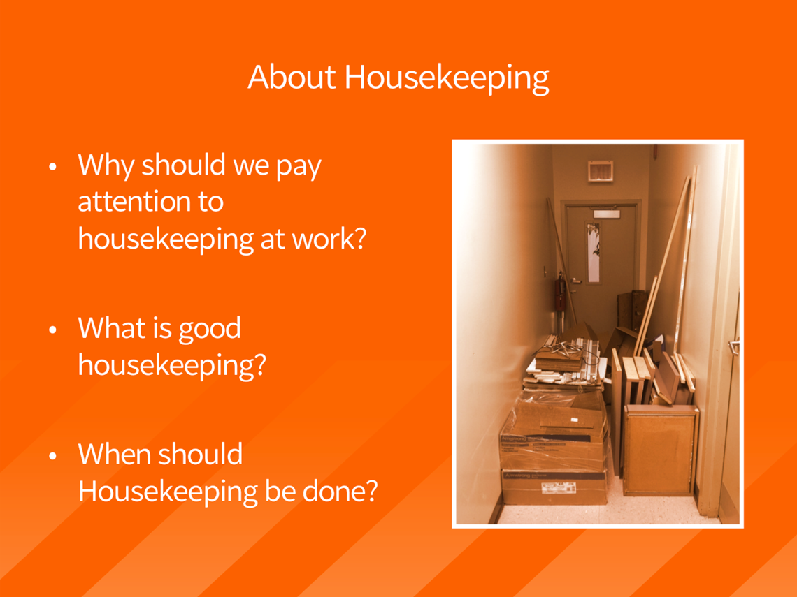 Housekeeping powerpoint slide