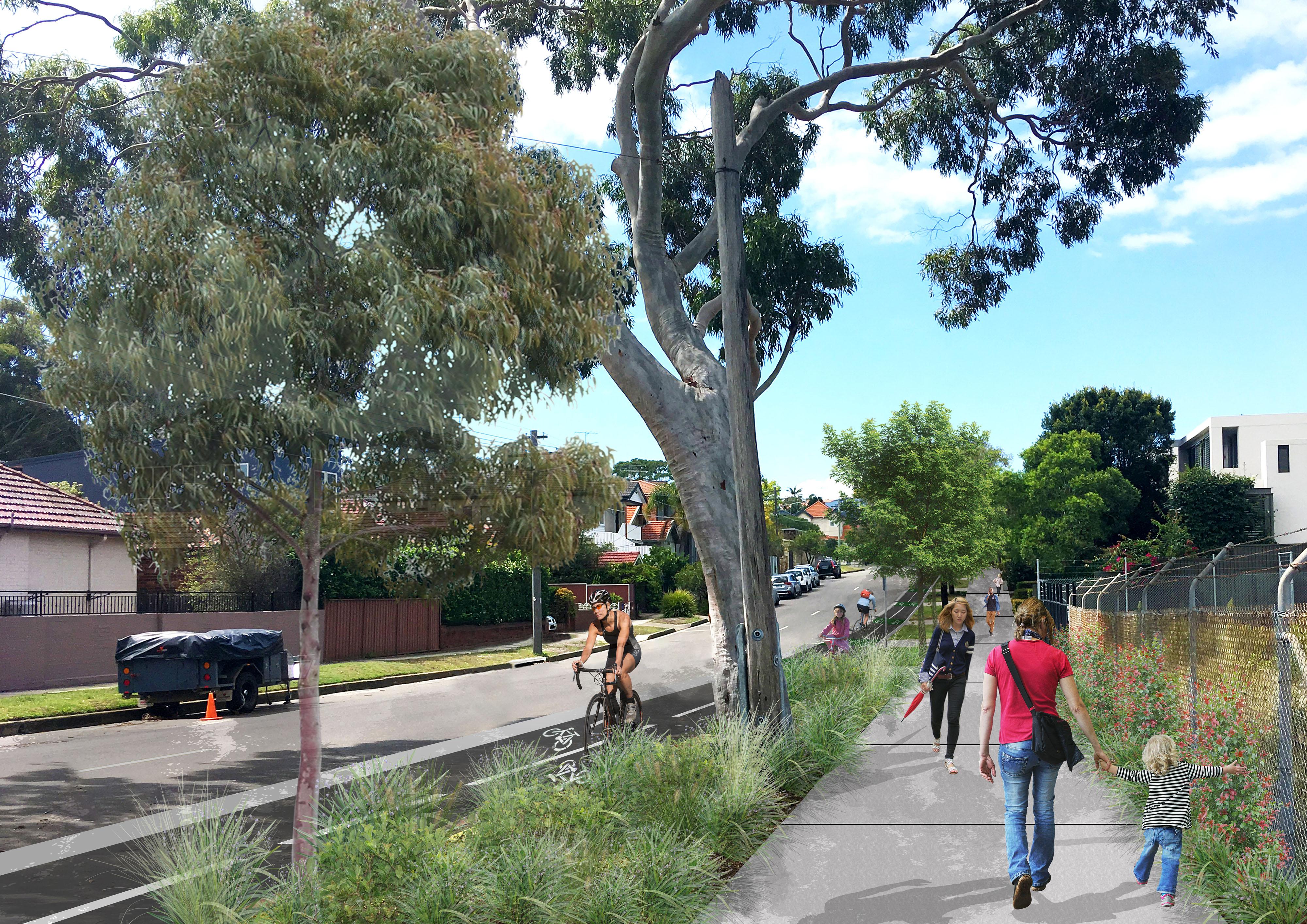 Cycleway artist impression   bundock hill