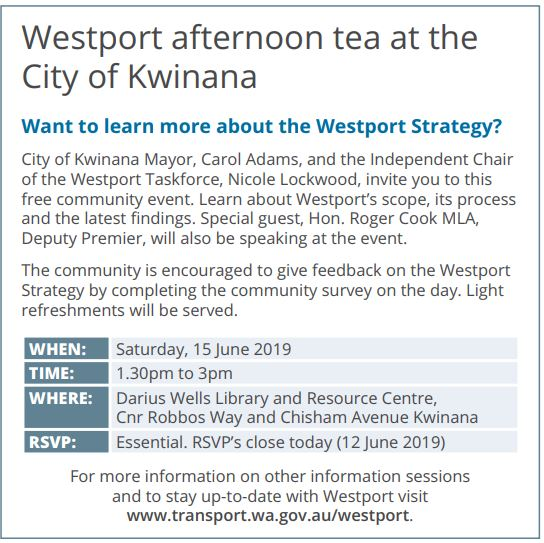 20190612 sound telegraph   westport afternoon tea at the city of kwinana