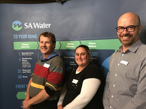 Sa water talking water in bordertown l r keith zilm carmel pilgrim and ..