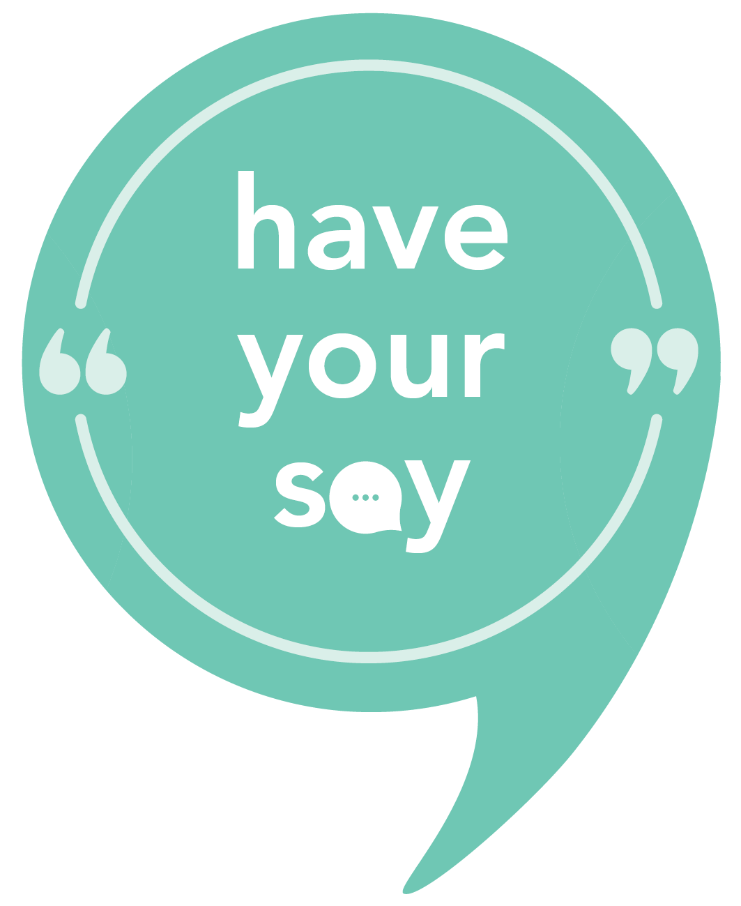 Have your say logo   tint green