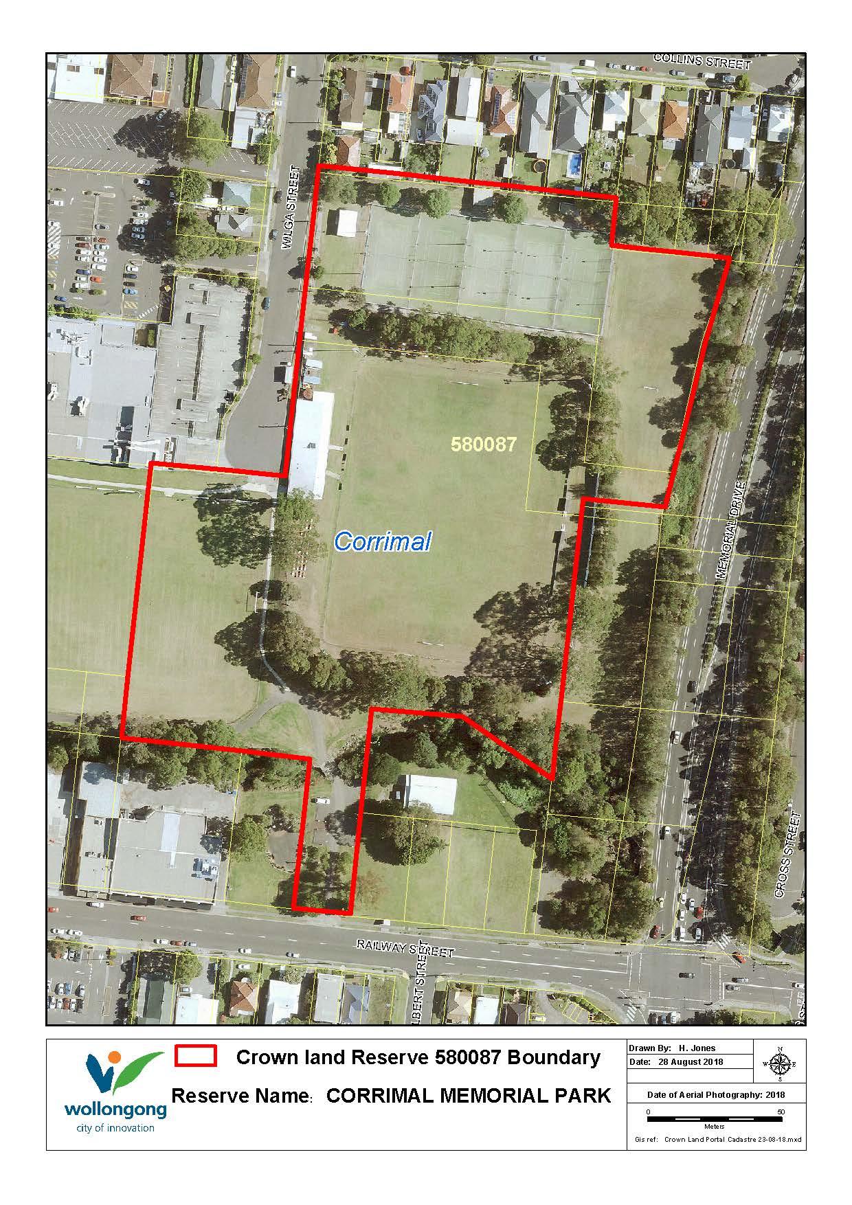 Corrimal memorial park 580087 map z19 81116