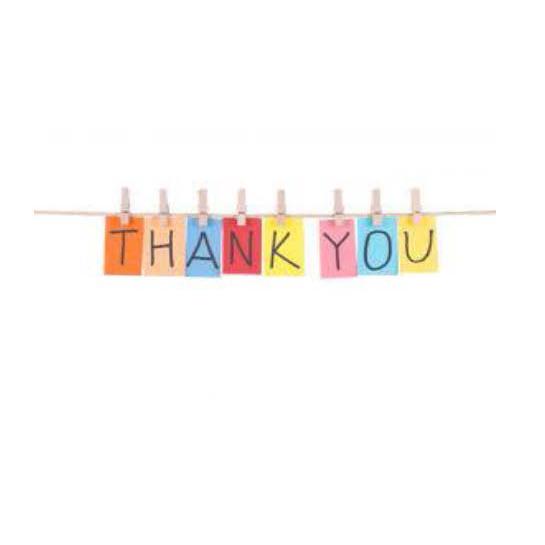 Thank you logo string