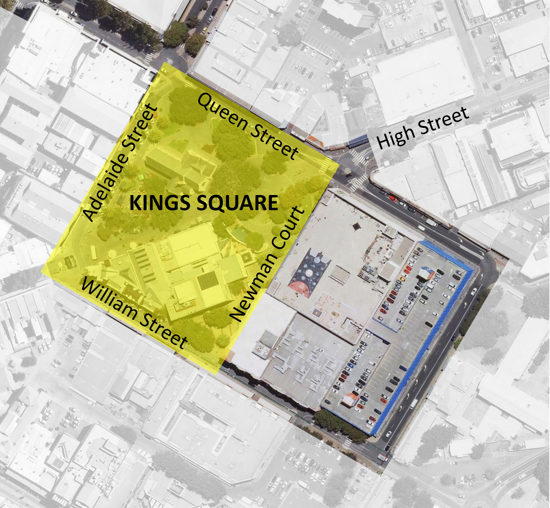 Map of the Kings Square area