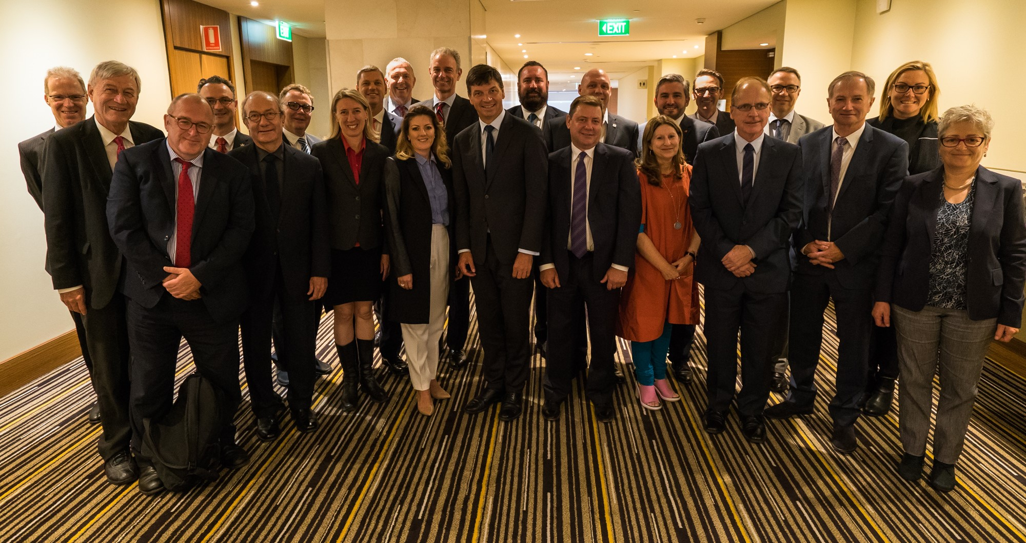 Attendees at the first meeting of the Cities Reference Group, 26 April 2017