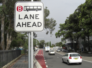 Bus lane ahead rms image