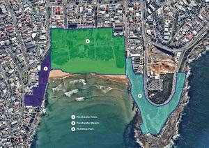 Freshwater coastal open space map