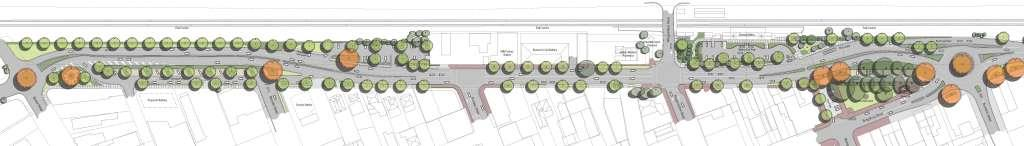 Detailed concept plan for streetscape