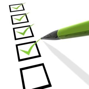Tick checklist