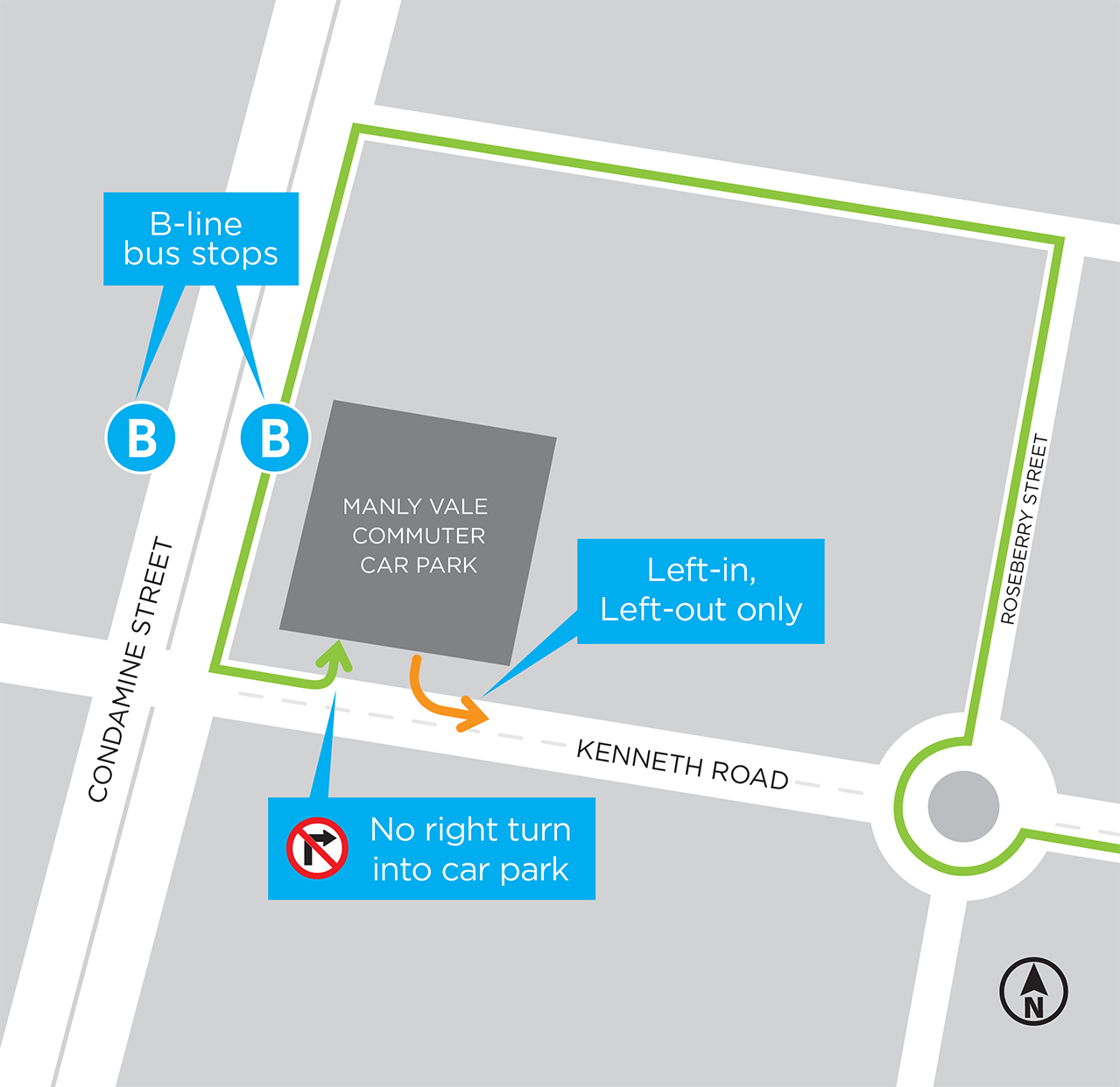 Location and Access for Manly Vale Car Park