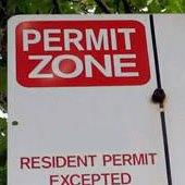 Parking sign   permit zone