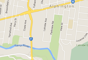 Maps of the chandler highway in alphington