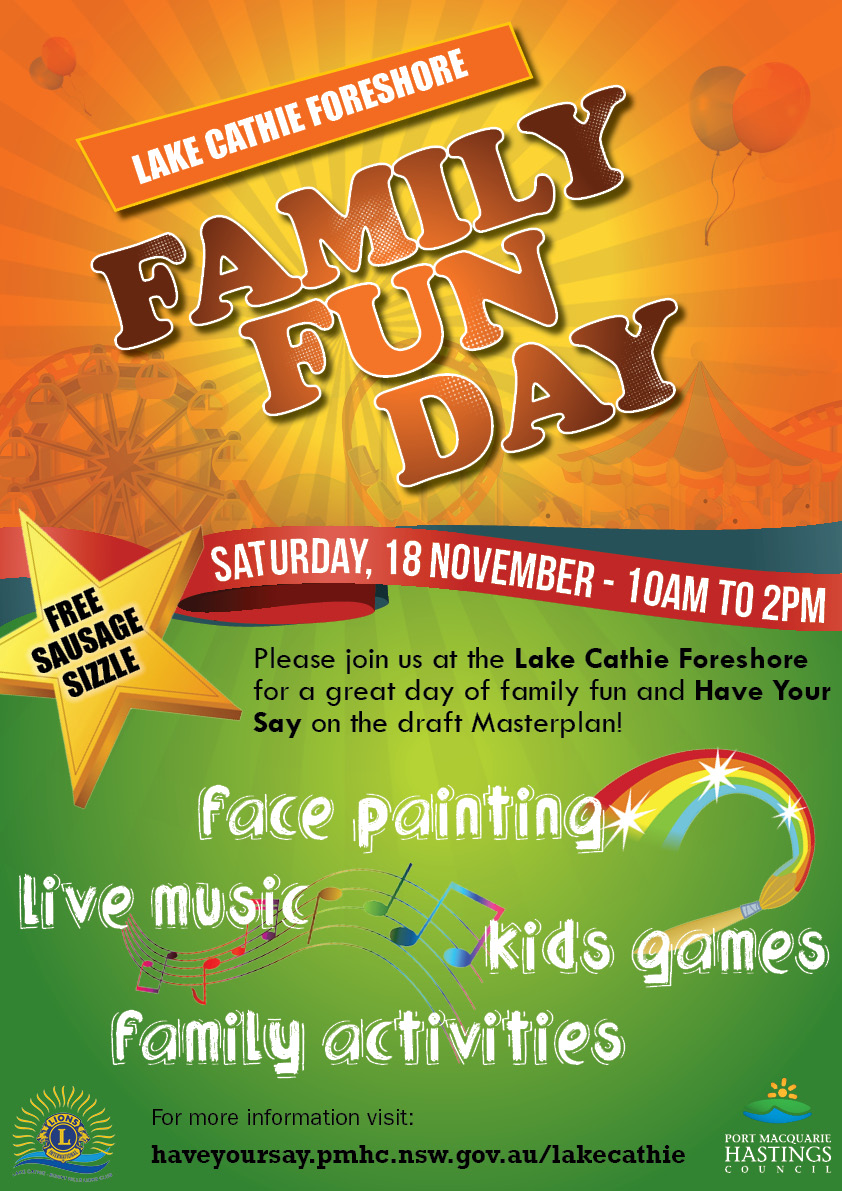 Lake cathie foreshore fun day a3 poster 0.2
