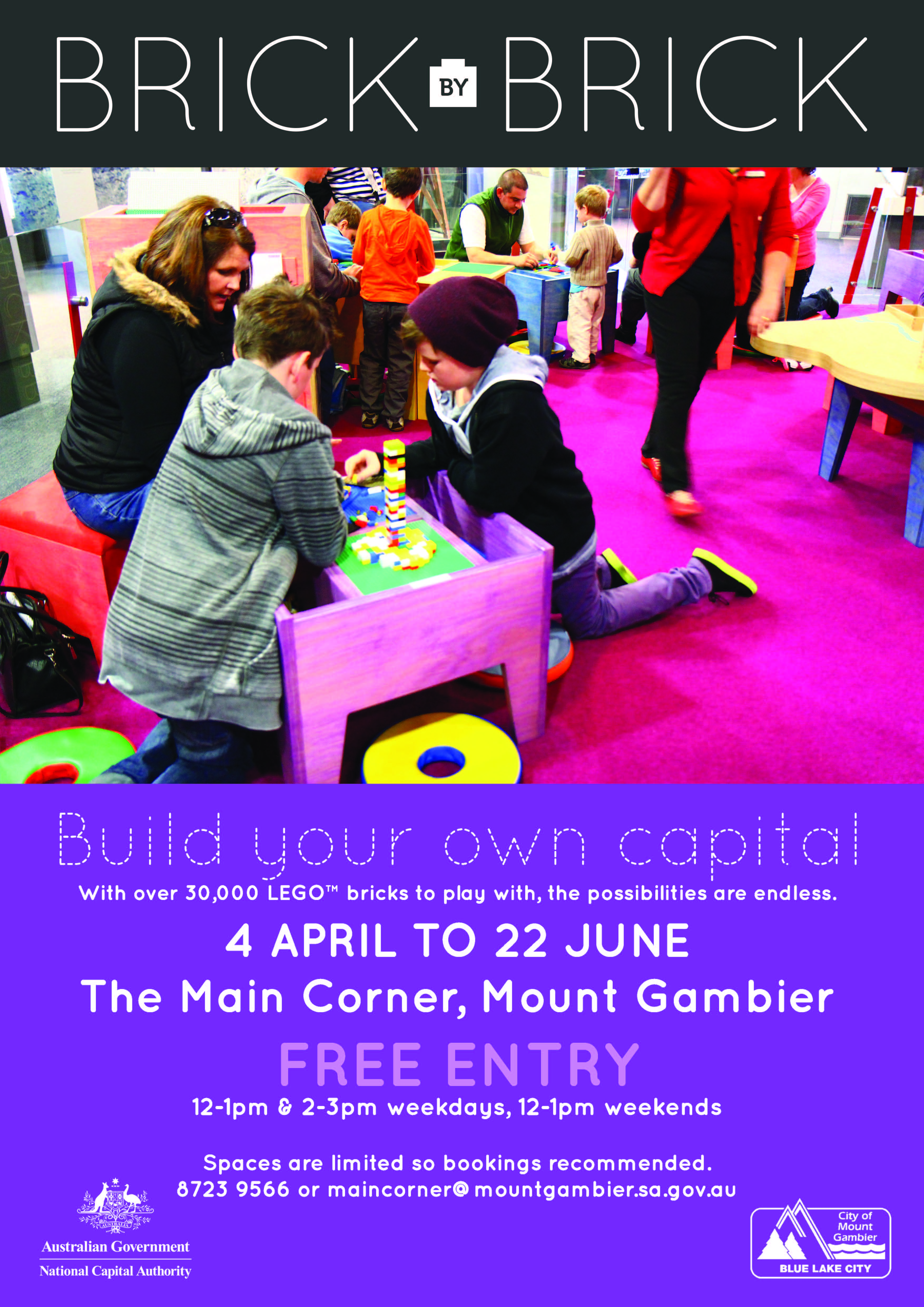 Lego mount gambier poster a3