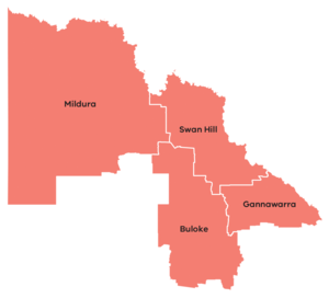 Map of the mallee region