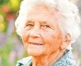 Elderly lady face