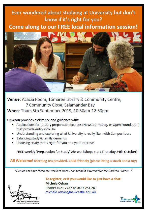 Info session tomaree