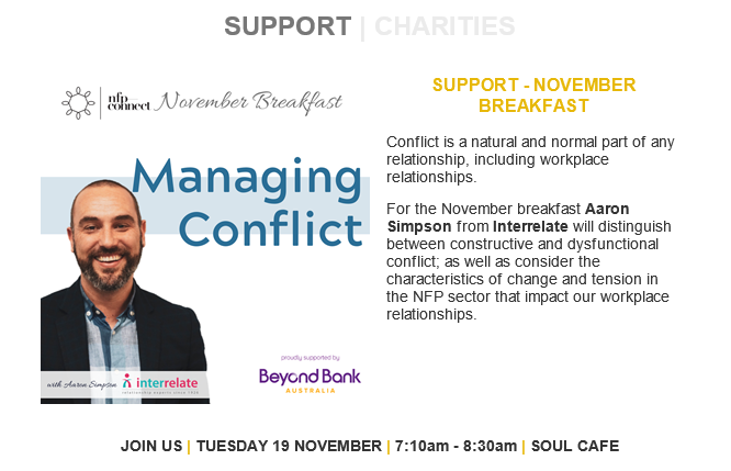 Managing conflict breakfast