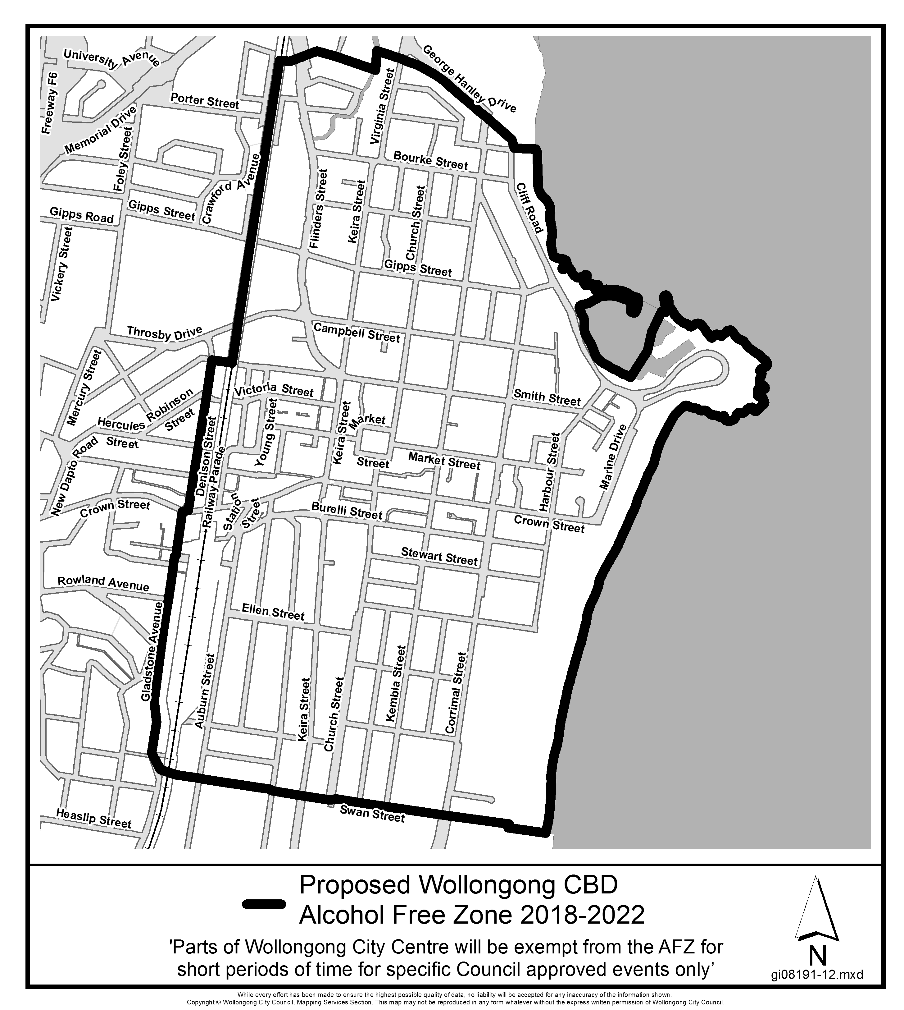Proposed wollongong cbd alcohol free zone 2018 2022