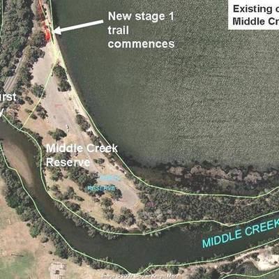 Map of Middle Creek Reserve - Existing Conditions