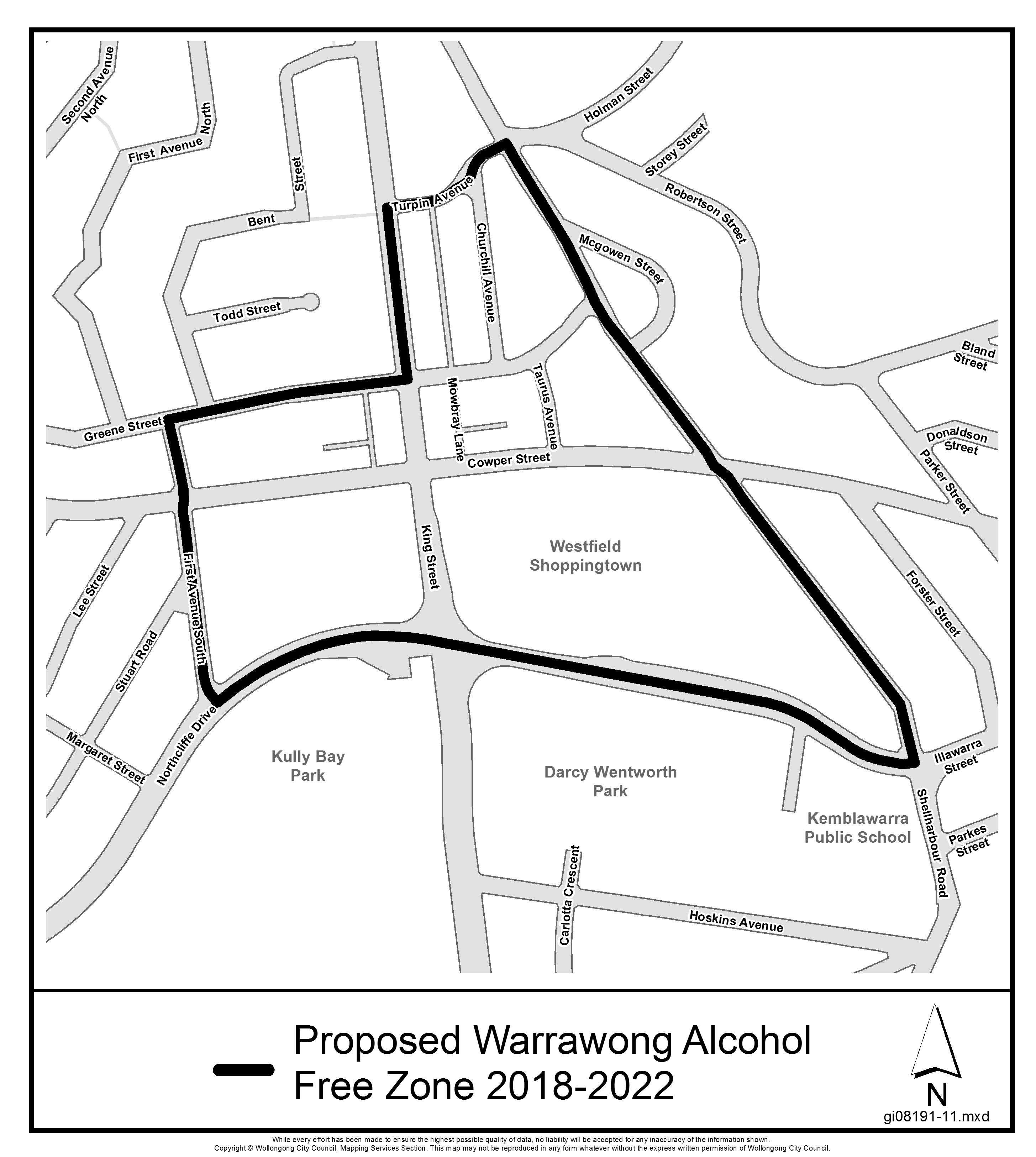 Proposed warrawong alcohol free zone 2018 2022