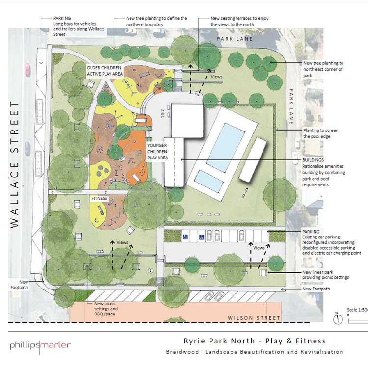 Park Design Tìm Với Google: Braidwood CBD And Ryrie Park Landscape Concept Plans
