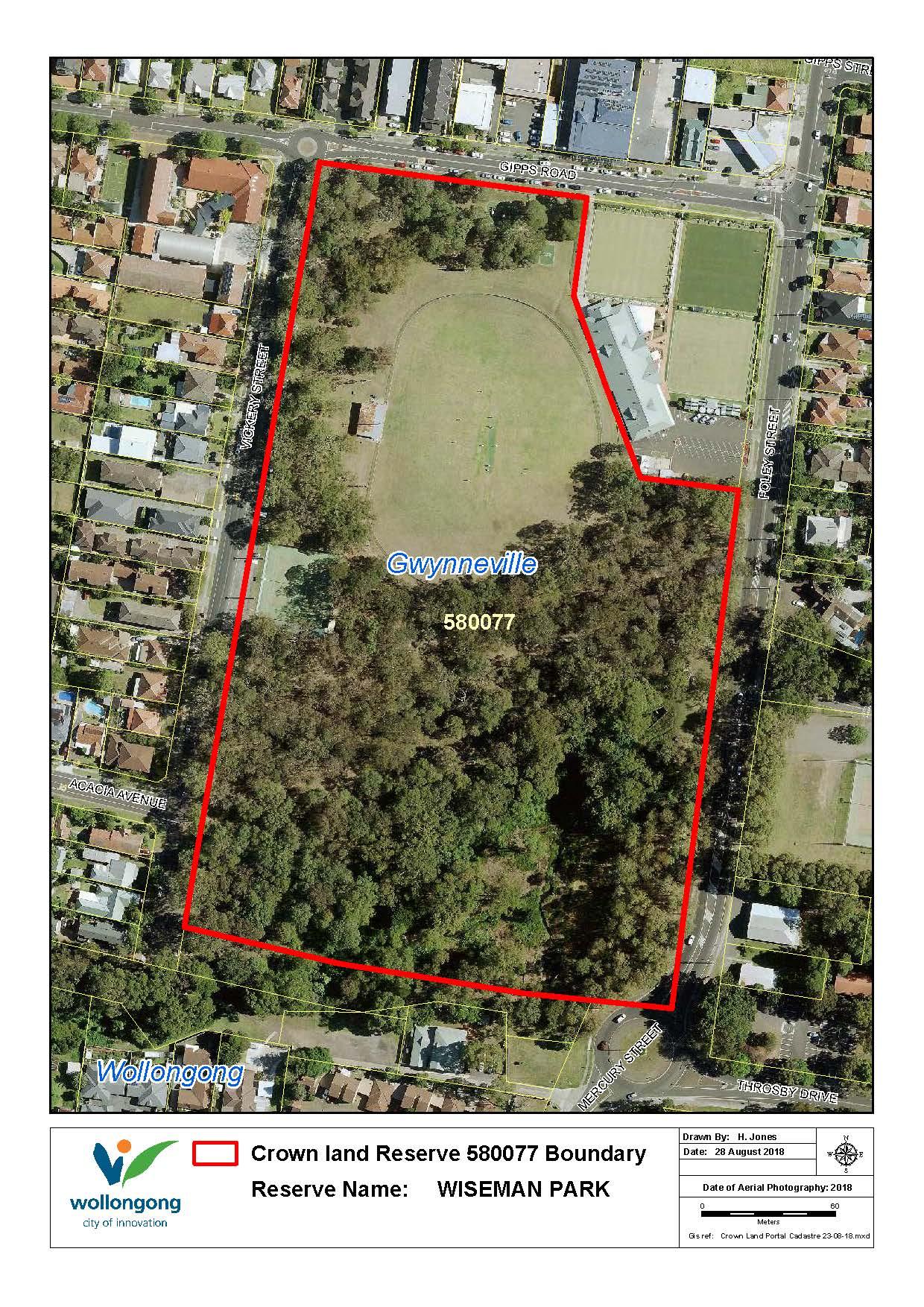 Wiseman park reserve 580077 map z19 93157