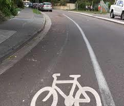 Onroad bicycle facility with logos