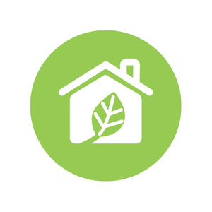 Sustainable buildings icon