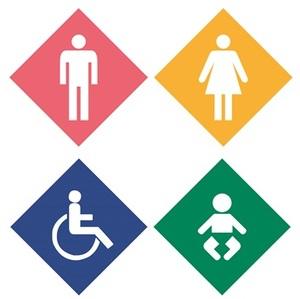 Public toilet logo
