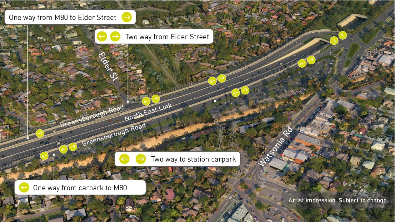 Ask A Question North East Link Join The Conversation Diagram Shows Options For Diamond Interchange Including 3 And 4 Other This Area Of Project More Direct Connection From Elder Street To Station Carpark Are Being Considered