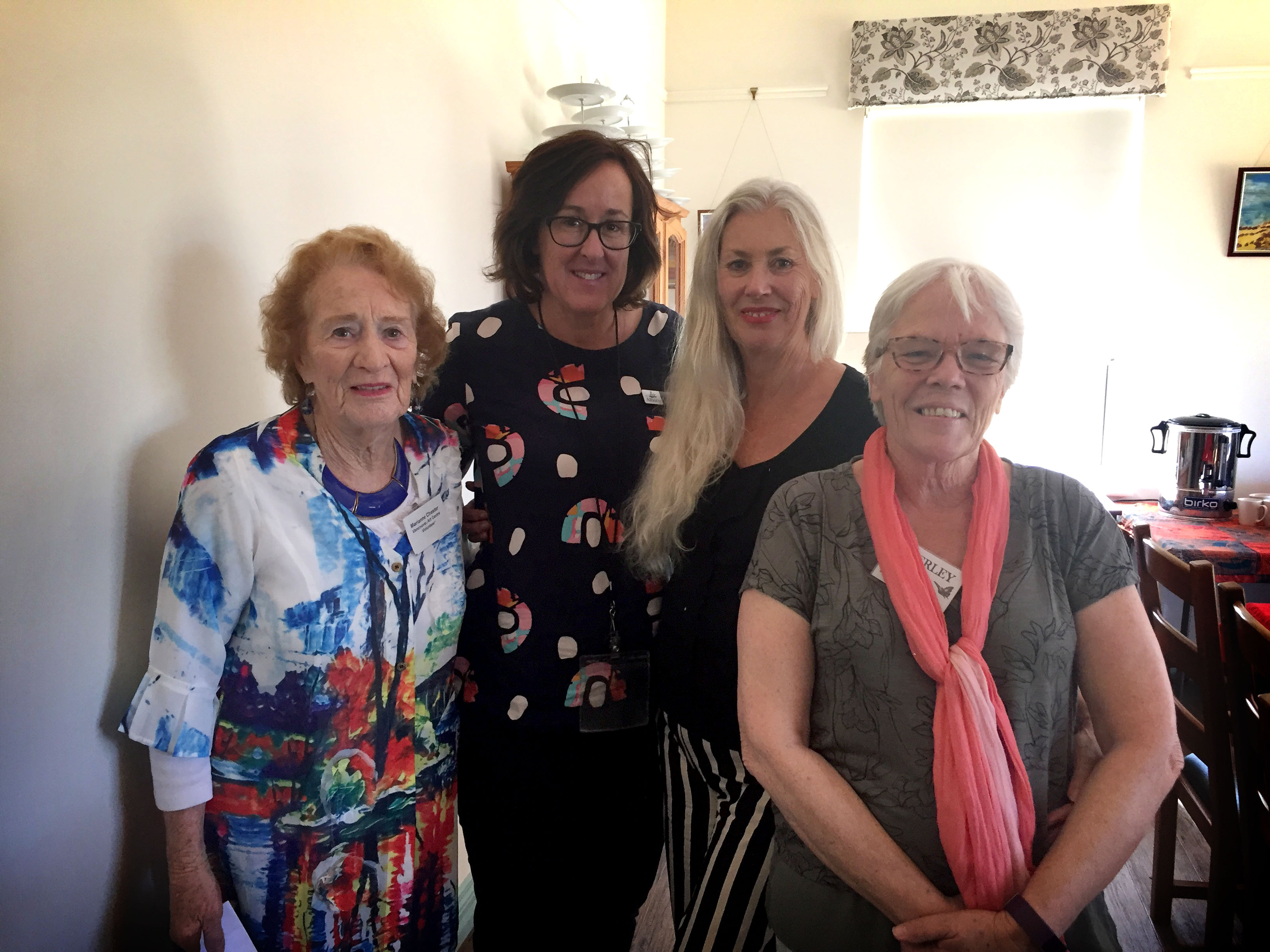 Lorriane Benson Hawthorne House Manager, with  Annmaree Lynch. Maryanne Chester Community Rep, with Vivienne Gardiner City of Albany Project Officer, and Beverley Smith, Aboriginal liaison Officer Hawthorn House