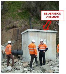 De aeration chamber