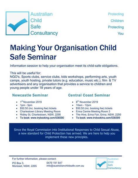 Child safe seminar