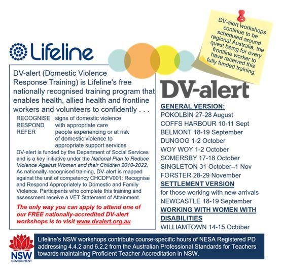 Lifeline dv alert training