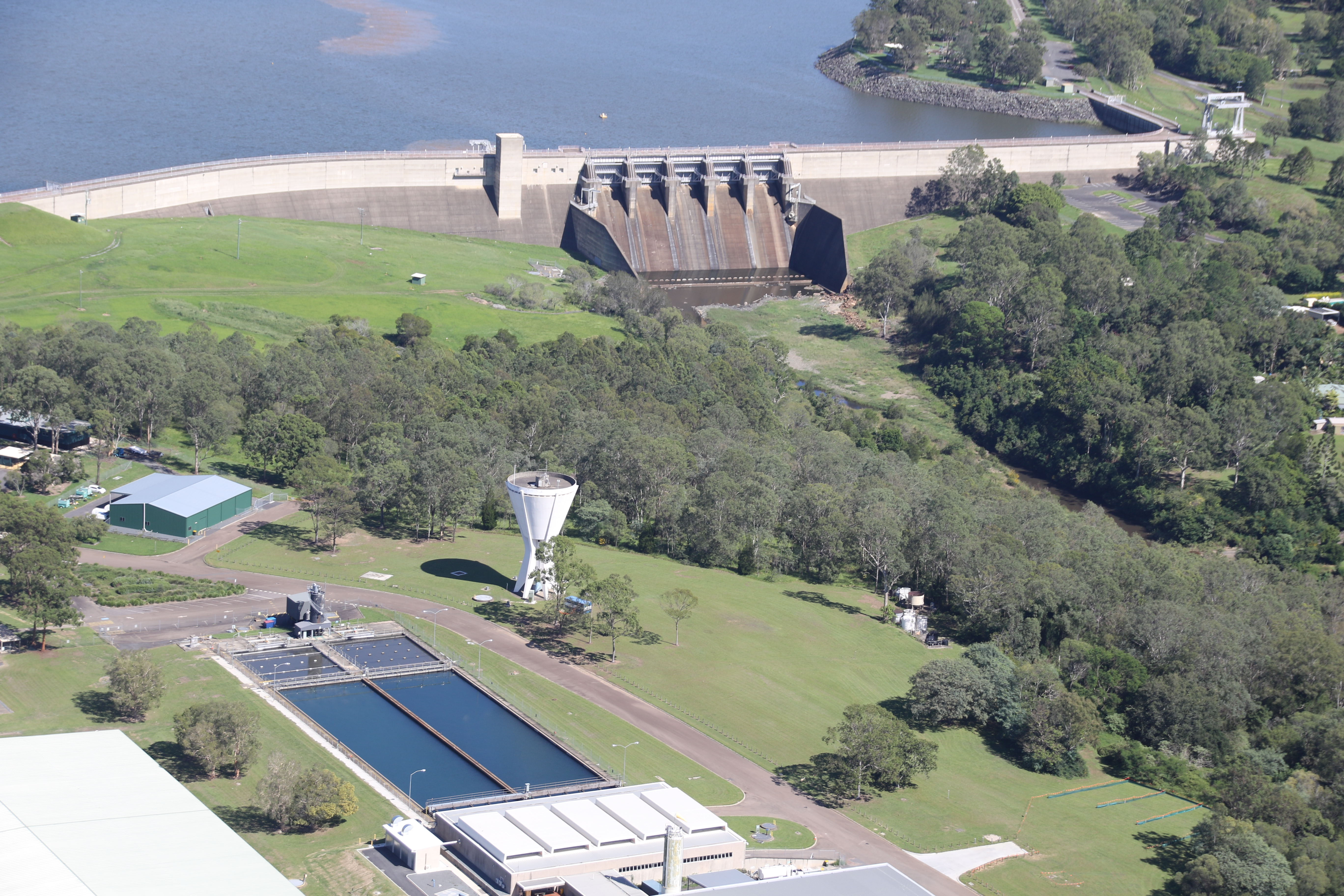 North pine water treatment plant aerial %282%29