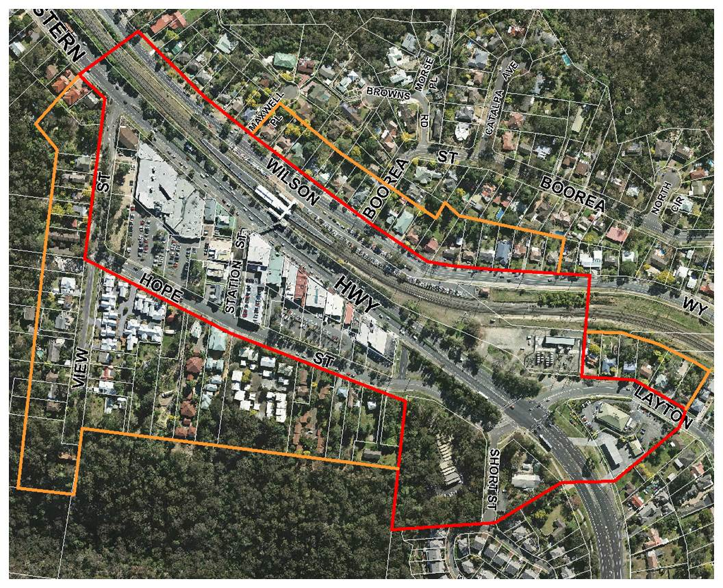 Blaxland town centre mp boundary