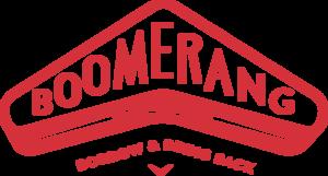 Boomerang bags logo tagline red cmyk