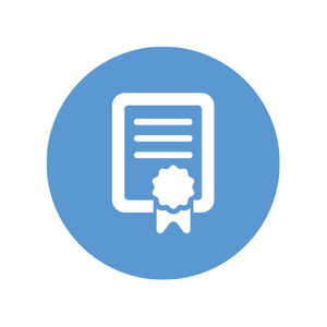 Building certification icon