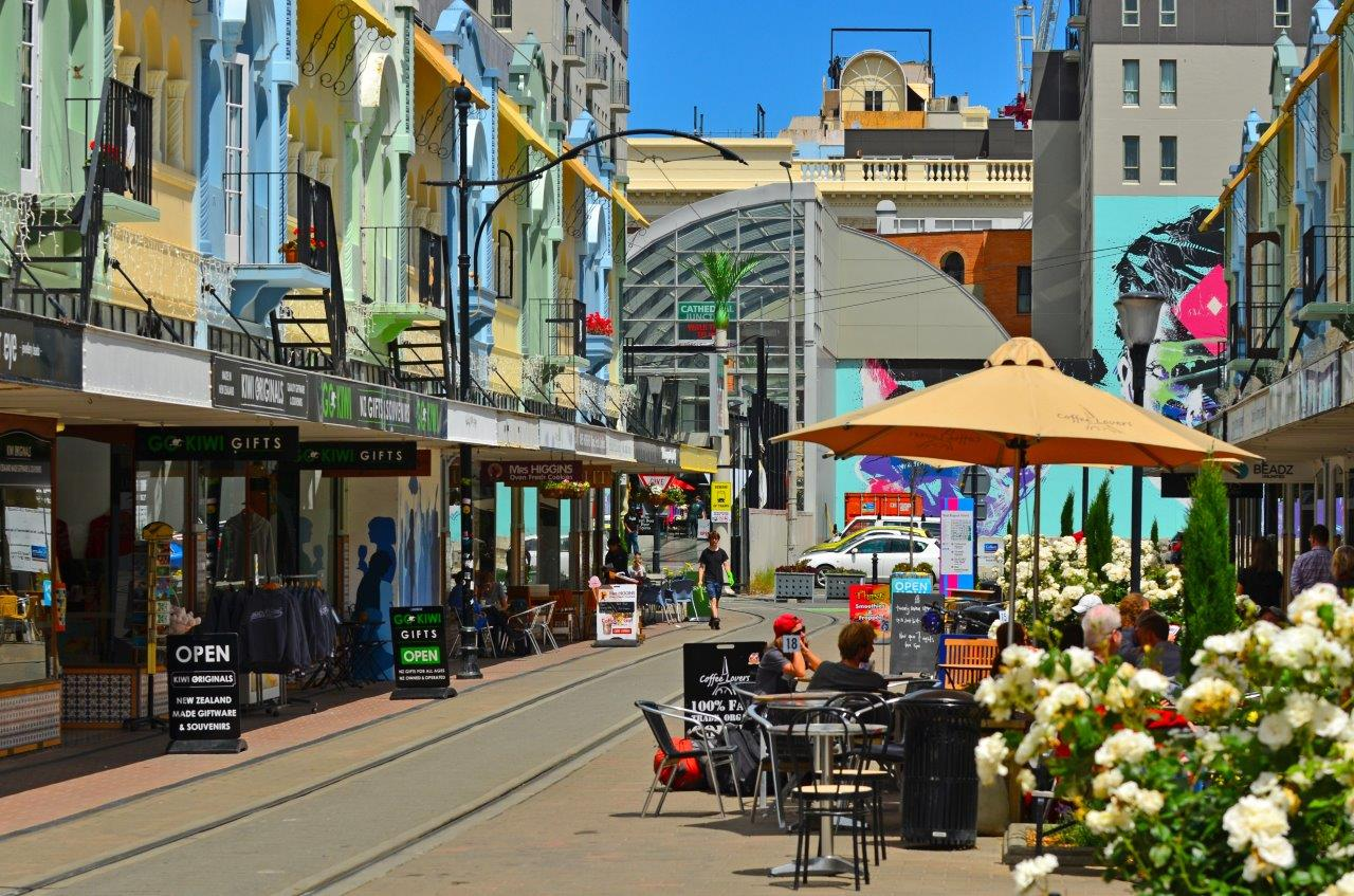 Photograph of New Regent Street in Christchurch.